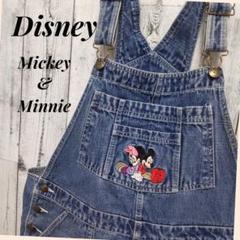"Thumbnail of ""Disney ディズニー ミッキー&ミニー刺繍  デニム オーバーオール"""