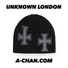"Thumbnail of ""RHINESTONE black beanie UNKNOWN cross"""