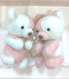 """Thumbnail of """"羊毛フェルト ふたごのシャーベットくまちゃん(๑・㉨・๑)"""""""