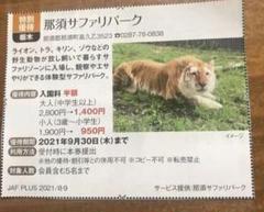 "Thumbnail of ""那須サファリパーク 割引チケット 1枚"""