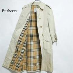 "Thumbnail of ""Burberry ホワイト ノバチェック 比翼仕立て ステンカラーコート"""