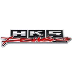 "Thumbnail of ""HKS 3Dエンブレム(両面テープ) シルバー×ブラック×レッド"""