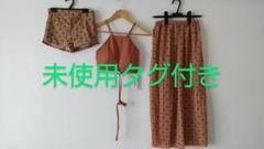 "Thumbnail of ""未使用タグ付き パレオ風スカート付水着"""