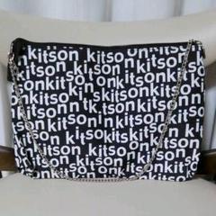 "Thumbnail of ""▲難あり kitson キットソン ロゴ ショルダーバッグ クラッチバッグ"""