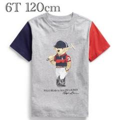 "Thumbnail of ""ラルフローレン Tシャツ ポロベア ボーイズ キッズ グレー 赤 紺 120"""