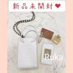 "Thumbnail of ""ホワイト【新品】Rady 大人気最新作♡チェーンミニバッグ"""