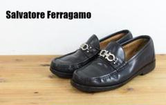 "Thumbnail of ""A5913 Salvatore Ferragamo ガンチーニ ローファー 黒"""