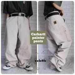 """Thumbnail of """"【大人気】Carhartt 革ロゴ ルーズワイド ダック地 ペインターパンツ"""""""