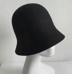 """Thumbnail of """"韓国の帽子の女性の秋冬韓国版の湿っている日は桶の帽子のウールを結びます。1"""""""