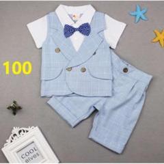 """Thumbnail of """"100サイズ ベビー フォーマルスーツ 蝶ネクタイ セットアップ 半そで 子供服"""""""