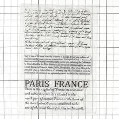 """Thumbnail of """"クリアスタンプ テキスト Paris France シリコンスタンプ"""""""