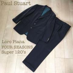 "Thumbnail of ""Paul Stuart Loro Pianaセットアップ上下スーツ羊毛ネイビー"""