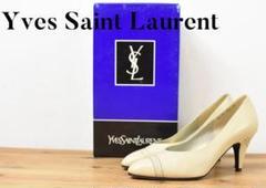 "Thumbnail of ""A6550 Yves Saint Laurent ヒール パンプス 白"""