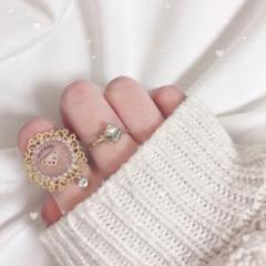 """Thumbnail of """"くまさんのチョコリング 指輪 ハンドメイド 量産 量産型 チョコ くま ゴールド"""""""