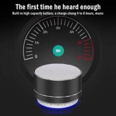 Bluetooth スピーカー  黒 ポータブル 小型 LED 軽量 音楽