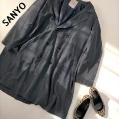 """Thumbnail of """"SANYO M ダブルコート チャコールグレー コート  アウター きれいめ"""""""