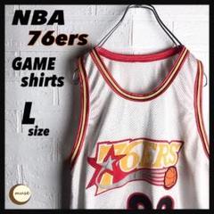 """Thumbnail of """"【フォロー割】タグ無し NBA 76ers ゲームシャツ  バスケ"""""""