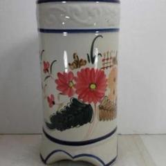 """Thumbnail of """"送料無料!陶器製、傘立て。大胆な花柄、猫足、個性的、小難あり5-49"""""""
