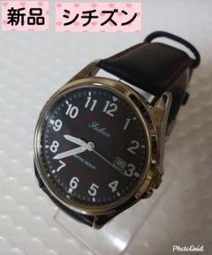 "Thumbnail of ""★新品★CITIZEN Q&Q★シチズン★革ベルト★ブラック★"""