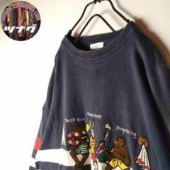 "Thumbnail of ""【レア 美品 ビンテージ 希少デザイン アニマル ボーダー 刺繍 セーター】"""