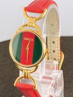 GUCCI 6000L シェリーライン 新品電池 レディース クォーツ 腕時計