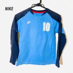 "Thumbnail of ""NIKE Tシャツ スポーツ サッカー キッズ 140 長袖 古着"""