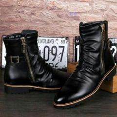 """Thumbnail of """"新作 Eショートブーツ メンズ 革靴 エンジニアブーツ イギリス風 おしゃれx"""""""