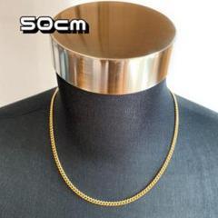 "Thumbnail of ""ゴールド チェーンネックレス 50cm メンズ ネックレス アクセサリー h3"""