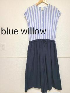 "Thumbnail of ""blue willow*コットンリネン*ストライプ*オールインワン*ワイドパンツ"""