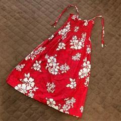 "Thumbnail of ""【本日限定値下げ】ハワイアンドレス フラダンス 衣装 赤 ハイビスカス 82㎝"""