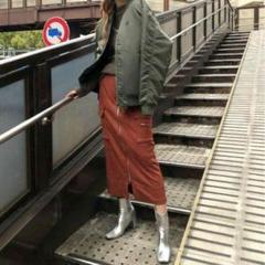 "Thumbnail of ""Ameri アメリ SUEDE LIKE ZIPPER SKIRT   サイズS"""
