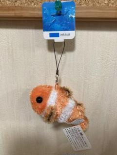 """Thumbnail of """"沖縄県美ら海水族館  ふわふわカクレクマノミ  携帯クリーナー付きマスコット"""""""