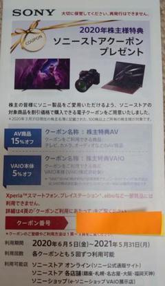 """Thumbnail of """"SONY 2020年株主優待"""""""