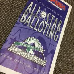 "Thumbnail of ""1998年 MLBオールスターゲーム投票用紙"""