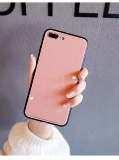 """Thumbnail of """"iPhone7plus iPhone8plus ケース 強化ガラス ピンク"""""""