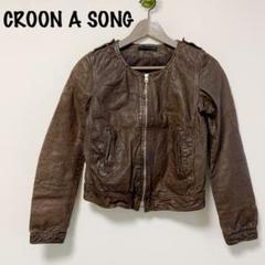 "Thumbnail of ""CROON A SONG レザージャケット ライダースジャケットサイズ38"""