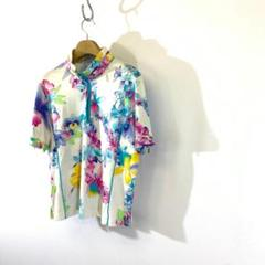 "Thumbnail of ""LEONARD レオナール 花柄 フローラル パイピング ポロシャツ Tシャツ"""