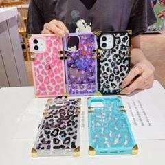 "Thumbnail of ""豹柄 韓国大人気  iPhone12 ケース  パープル"""