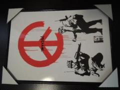 """Thumbnail of """"A4 額付き BANKSY バンクシー CND Soldiers ピース"""""""