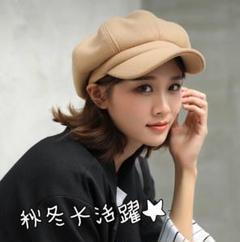 "Thumbnail of ""キャスケット ベージュ茶 帽子 秋冬 男女兼用 韓国 匿名配送"""