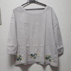 "Thumbnail of ""ノースオブジェクト 裾刺繍が素敵なブラウス L"""