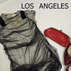 """Thumbnail of """"LOS ANGELES チュニック サイズS レース パール ブラック 黒"""""""