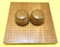 "Thumbnail of ""本榧碁盤、本蛤碁石、欅碁笥 セット"""