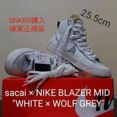 """Thumbnail of """"sacai × NIKE BLAZER MID""""WHITE WOLF GREY"""""""""""