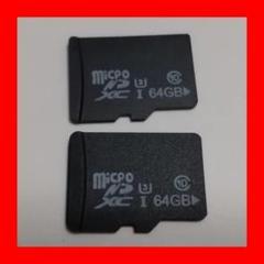 """Thumbnail of """"P) マイクロSDカード 64GB 2枚セット MicroSDカード"""""""