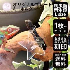 "Thumbnail of ""爬虫類 両生類 キーホルダー Lサイズ スタンダードカット 名入れ 陸の生き物"""