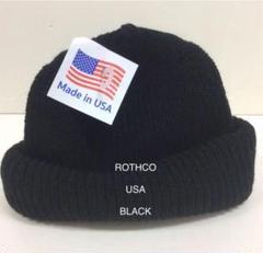 """Thumbnail of """"ROTHCO ニット帽 ブラックロスコ ニット帽 BLACK"""""""