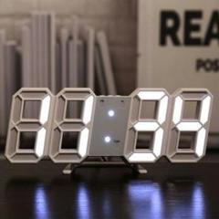 "Thumbnail of ""【置時計】 壁掛け時計 デジタル時計 LED インテリア 両用 立体3D時計"""