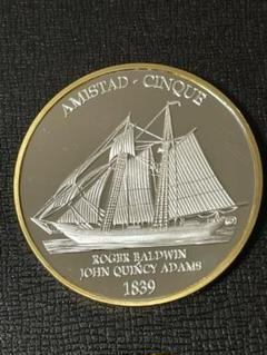 "Thumbnail of ""(f-47)外国銀貨 1839 米国无畏号記念硬貨 帆船銀貨 双色鏡記念貨幣"""