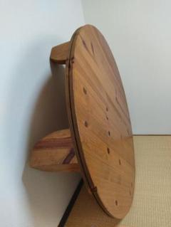 """Thumbnail of """"アクタス パイン無垢材 丸テーブル(直径約125cm・高さ約33cm)"""""""